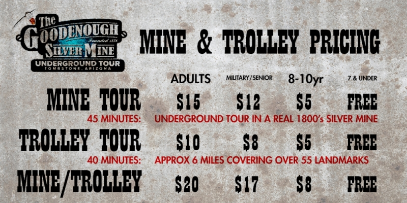 Good Enough Mine and Trolley Tours Prices